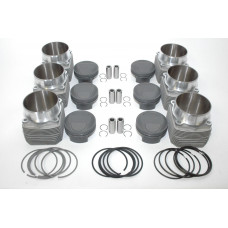 Porsche 993 Mahle 3.8 TURBO 102mm Pistons Cylinders MAHLE Slip in fitment 95-98