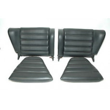 Porsche 911 930 Rear Jump Seats Coupe Black Vinyl 9115220170043S 9115220510643S