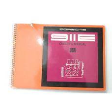 Porsche 911 E Porsche Owners Manual #2 WKD462423 Blem