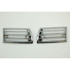 Porsche 911 Horn Grills Pair Chrome 90155943127 90155943227 Restored