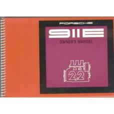 Porsche 911E Owners Manual 911E Euro 1970 WKD461820