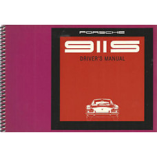 Porsche 911S Owners Drivers Manual 1969 WKD461520