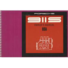 Porsche 911S Owners Manual 1970 WKD461923
