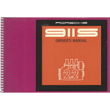 Porsche 911S Owners Manual 1971 WKD462520