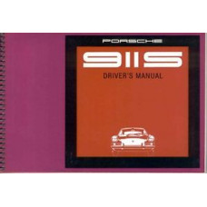 Porsche 911S Owners Manual 911S Euro 1969 WKD461520