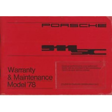 Porsche 911SC Owners Warranty Maintenance Manual 1978 WKD431523