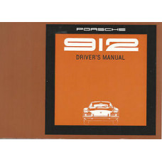 Porsche 912 Owners Drivers Manual 1969 WKD361E4000169