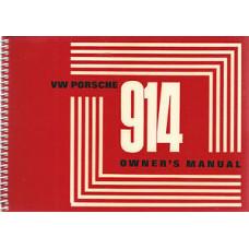 Porsche 914 Owners Manual 1970 WKD462020
