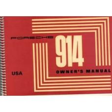 Porsche 914 Owners Manual 914 1.7 USA 1971 WKD462623