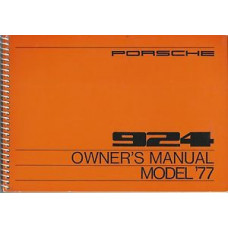 Porsche 924 Owners Manual 1977 WKD467323