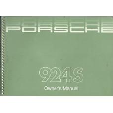 Porsche 924 S Owners Manual 1986 WKD92402187