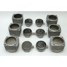 Porsche 930 965 Mahle 3.3 Turbo Pistons Cylinders 93010395408 97mm USED