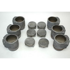 Porsche 930 Turbo Engine Pistons Cylinders 3.3 93010396903 97mm