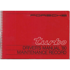 Porsche 930 Turbo Owners Manual & Maintenance 1980 WKD468820 NOS