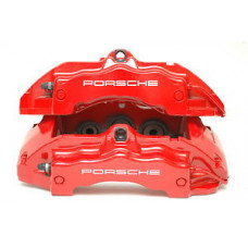 Porsche 955 Cayenne GTS Calipers Red 95535142222 95535142122