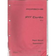 Porsche 965 911 Turbo Repair Shop Owners Manual Supplement WKD48272003