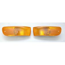 Porsche 993 Bumper Amber Turn Signal Lights 99363107100 99363107200