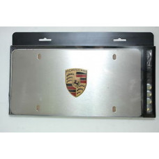 Porsche Front License Plate with Crest PNA70100499