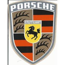 """Porsche Vintage Crest Decals 4"""" x 6"""""""