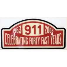 Porsche 40th Anniversary Plaque PNA70602003