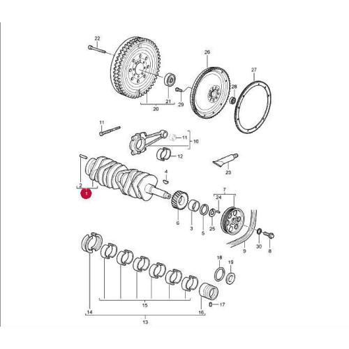 porsche 911 997 996 gt3 engine crankshaft crank 99610202196