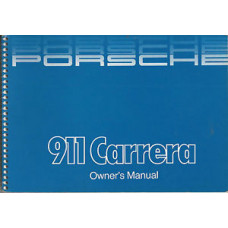 Porsche 911 Carrera Owners Manual 1985-1986 WKD473221