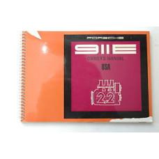 Porsche 911 E Porsche Owners Manual #3 WKD462423 Blem