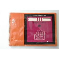 Porsche 911 E Porsche Owners Manual #4 WKD462423 Blem