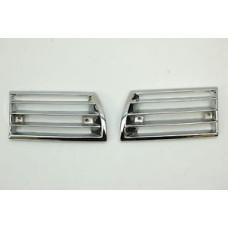 Porsche 911 Horn Grills Pair Chrome 90155943127 90155943227 Restored