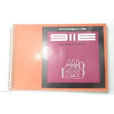 Porsche 911E Owners Manual 1970 #5 WKD462423 Blem