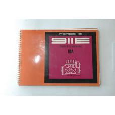 Porsche 911E Owners Manual 1970 #9 WKD462423 Blem