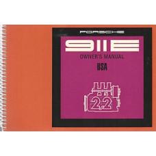 Porsche 911E Owners Manual 1971 WKD462423 NOS