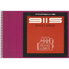 Porsche 911S Owners Manual 1970 WKD461920 - B