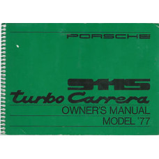 Porsche 911S Turbo Carrera Owners Manual 1977 WKD467221