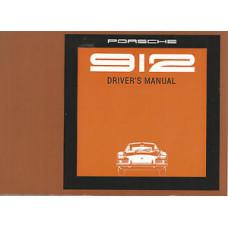 Porsche 912 Owners Drivers Manual 1969 WKD361E4000169