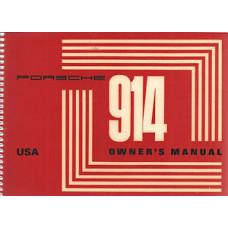 Porsche 914 Owners Manual 1971 WKD462623