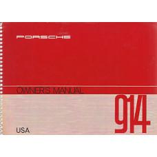 Porsche 914 Owners Manual 1972 WKD464123