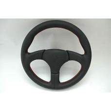 Porsche 930 S Sports Steering Wheel Black Leather Red Stitching