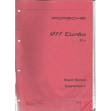 Porsche 965 911 Turbo Repair Shop Owners Manual Supplement WKD48272003