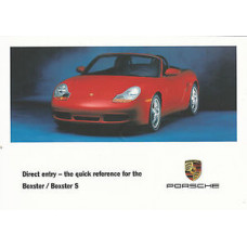 Porsche 986 Boxster, Boxster S Quick Reference WKD98692101
