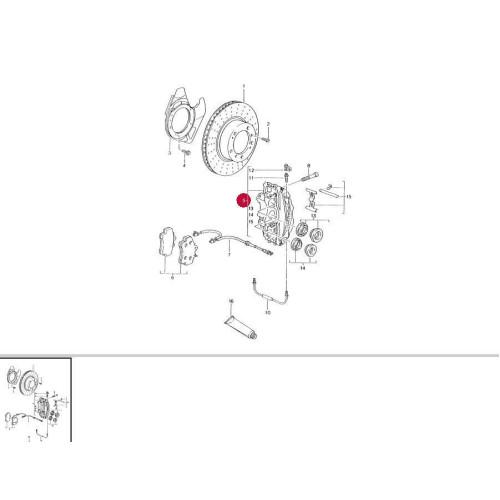 Porsche Boxster Engine Braking: Porsche 986 Boxster Front Brake Calipers 98635142103