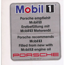 Porsche 993 Mobil Oil Decal 99300654401