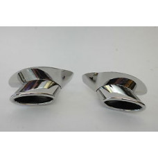 Porsche 993 Twin Turbo Exhaust Tips Bischoll Pair 99311125150 99311125250