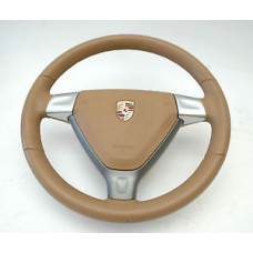 Porsche 997 Steering Wheel 99734780403FOC Air Bag Tan USED 99780308905T22