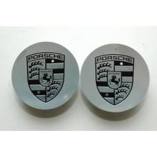 Porsche 997 Wheel Cap Pair 99736130500 SS 7PP601149H