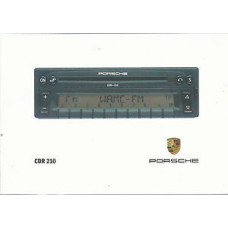 Porsche CD Radio Owners Instructions Manual CDR210 WKD47872497