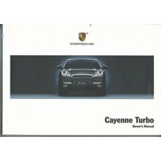 Porsche Cayenne Owners Manual Turbo  WKD94842104
