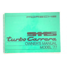 Porsche Owners Manual 911S Turbo Carrera 1977 WKD467221