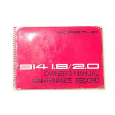 Porsche Owners Manual 914 1.8 -2.0 WKD466023 Burgundy Jacket Included