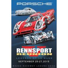 Porsche Rennsport V 2015 Poster